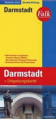 Darmstadt plan miasta 1:17 000 i mapa regionu 1:150 000 FALK VERLAG