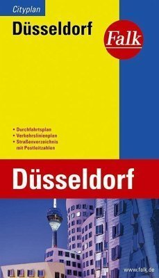 DUSSELDORF plan miasta 1:20 000 FALK VERLAG