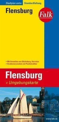 Flensburg plan miasta 1:16 500 i mapa regionu 1:150 000 FALK VERLAG