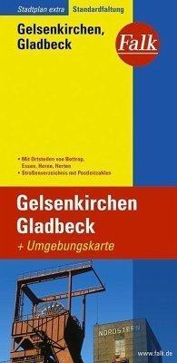 Gelsenkirchen, Gladbeck plan miasta 1:18 000 i mapa regionu 1:150 000 FALK VERLAG