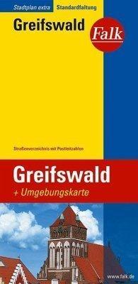 Greifswald plan miasta 1:17 500 i mapa regionu 1:150 000 FALK VERLAG