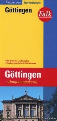 Gottingen plan miasta 1:17 000 i mapa regionu 1:150 000 FALK VERLAG