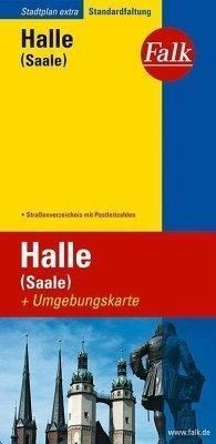 HALLE (SAALE) plan miasta 1:17 500 i mapa regionu 1:150 000 FALK VERLAG