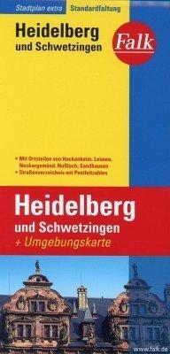 Heidelberg, Schwetzingen plan miasta 1:17 500 i mapa regionu 1:150 000 FALK VERLAG