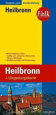Heilbronn plan miasta 1:18 000 i mapa regionu 1:150 000 FALK VERLAG