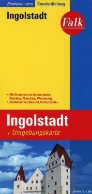 Ingolstadt plan miasta 1:19 500 i mapa regionu 1:150 000 FALK VERLAG
