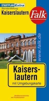 Kaiserslautern plan miasta 1:19 000 i mapa regionu 1:150 000 FALK VERLAG