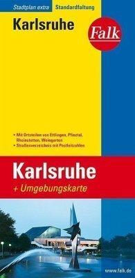 Karlsruhe  plan miasta 1:18 500 i mapa regionu 1:150 000 FALK VERLAG