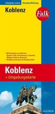 Koblenz  plan miasta 1:20 000 i mapa regionu 1:150 000 FALK VERLAG