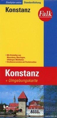 Konstanz plan miasta 1:17 500 i mapa regionu 1:150 000 FALK VERLAG