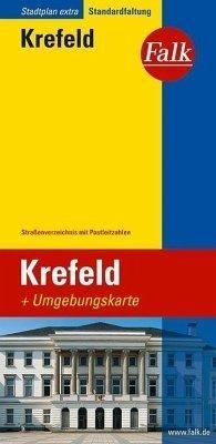 Krefeld plan miasta 1:17 000 i mapa regionu 1:150 000 FALK VERLAG