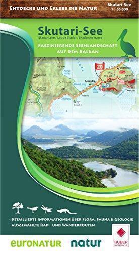 Skutari See - Skadar Lake 1:55.000 mapa turystyczna Kartographie Huber
