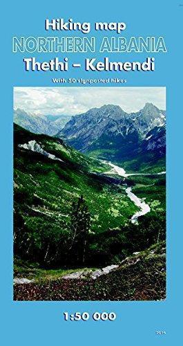 ALBANIA PÓŁNOCNA Thethi i Kelmend 1:50 000 mapa turystyczna Kartographie Huber
