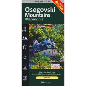 OSOGOVSKI MOUNTAINS Osogowska Płanina Macedonia mapa turystyczna 1:60 000 Trimaks