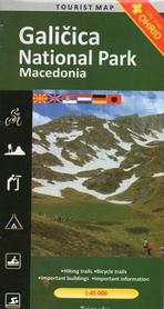Park Narodowy Galiczica Galicica Nationalpark Macedonia mapa turystyczna 1:45 000 Trimaks