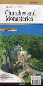 MACEDONIA KOŚCIOŁY I KLASZTORY mapa turystyczna 1:300 000 Trimaks
