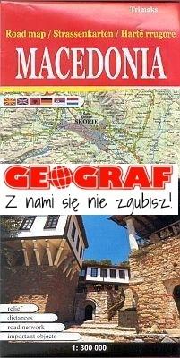 MACEDONIA mapa samochodowa turystyczna 1:300 000 Trimaks