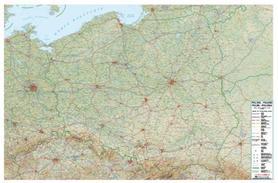 POLSKA mapa plastyczna 1:800 000 USZKODZONA!!!