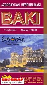 BAKU plan miasta 1:24 000 Baki Kartografiya Fabriki