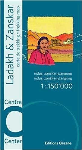 Ladakh i Zanskar (środkowy) - mapa trekkingowa 1:150.000 Editions Olizane