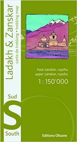 Ladakh i Zanskar (południe) - mapa trekkingowa 1:150.000 Editions Olizane