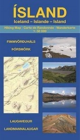 ISLANDIA Landmannalaugar Laugavegur Thorsmork & Fimmvörðuháls mapa turystyczna 1:50 000 wyd. Uwe Grunewald