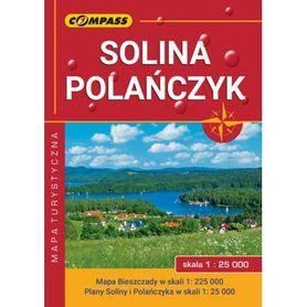 SOLINA POLAŃCZYK BIESZCZADY mapa turystyczna laminowana 1:25 000 COMPASS