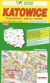 KATOWICE plan miasta 1:20 000 PIĘTKA 2018