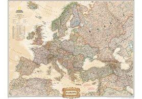 EUROPA mapa ścienna w stylu antycznym - plakat papier NATIONAL GEOGRAPHIC
