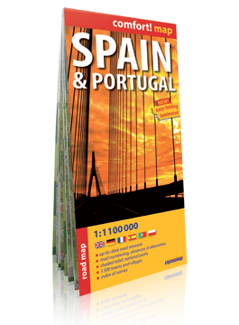 Hiszpania i Portugalia laminowana mapa samochodowa 1:1 100 000 EXPRESSMAP 2019