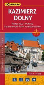 KAZIMIERZ DOLNY i okolice mapa laminowana 1:35 000 COMPASS