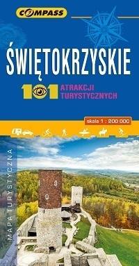 ŚWIĘTOKRZYSKIE 101 ATRAKCJI TURYSTYCZNYCH mapa turystyczna 1:200 000 COMPASS 2019