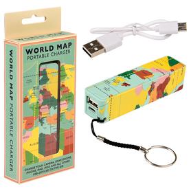 PRZENOŚNA ŁADOWARKA USB MAPA ŚWIATA REX LONDON TRADE
