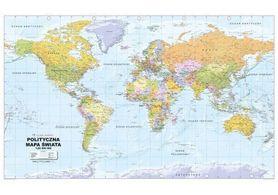 ŚWIAT MAPA ŚCIENNA POLITYCZNA laminowana 192 x 122 cm GLOBAL MAPPING