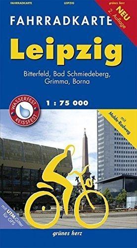 LIPSK I OKOLICE rowerowa mapa turystyczna 1:70 000 Grünes Herz
