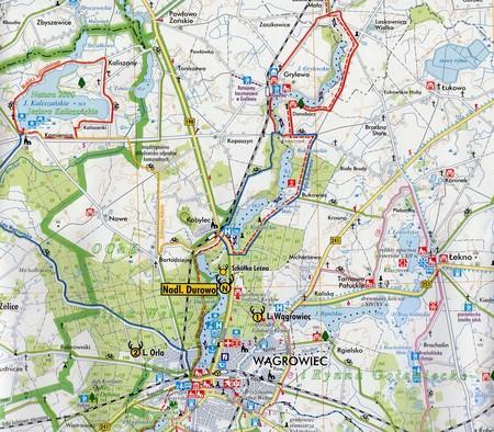 NADLEŚNICTWO DUROWO mapa leśno-turystyczna 1:65 000 TOPMAPA (4)