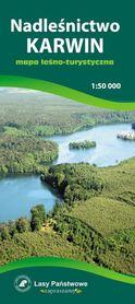 NADLEŚNICTWO KARWIN mapa leśno-turystyczna 1:50 000 TOPMAPA