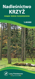 NADLEŚNICTWO KRZYŻ PUSZCZA DRAWSKA mapa leśno-turystyczna 1:40 000 TOPMAPA