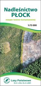 NADLEŚNICTWO PŁOCK mapa leśno-turystyczna 1:75 000 TOPMAPA