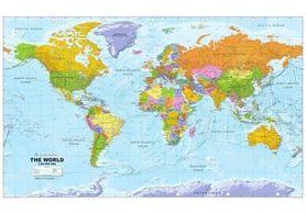 ŚWIAT POLITYCZNY tapeta na ścianę 300 x 184 cm GLOBAL MAPPING