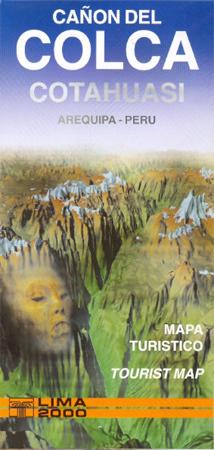 KANION COLCA i COTUHUASI mapa 1:225 000 EDITORIAL LIMA 2000 S.A.