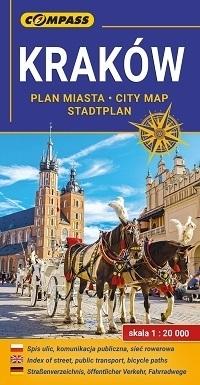 KRAKÓW Plan Miasta 1:20 000 COMPASS 2019