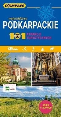 PODKARPACKIE 101 ATRAKCJI TURYSTYCZNYCH mapa turystyczna COMPASS 2019