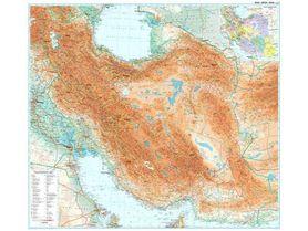 BLISKI WSCHÓD ścienna mapa geograficzna GIZIMAP (laminowana)