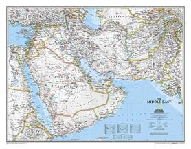 BLISKI WSCHÓD mapa ścienna NATIONAL GEOGRAPHIC
