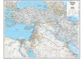 BLISKI WSCHÓD mapa ścienna NATIONAL GEOGRAPHIC laminowana