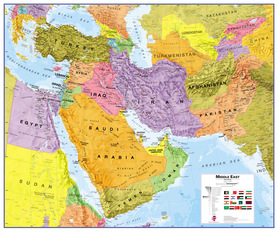BLISKI WSCHÓD mapa ścienna MAPS INTERNATIONAL