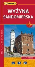 WYŻYNA SANDOMIERSKA mapa turystyczna 1:75 000 COMPASS 2016