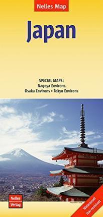 JAPONIA wodoodporna mapa samochodowa 1:1 500 000 NELLES 2018