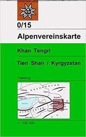 TIEN SHAN KIRGISTAN cz. wschodnia KHAN TENGRI mapa terkkingowa Alpenverein